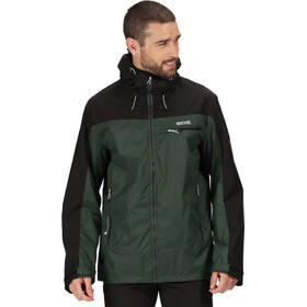 Regatta Highton Stretch Veste Shell Imperméable Homme, deep forest/black